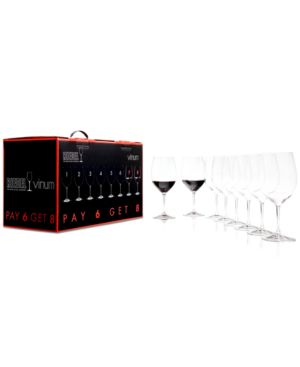 Riedel Vinum Bordeaux Wine Glasses 8 Piece Value Set